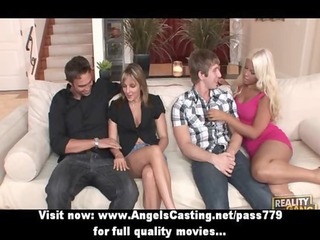 foursome swinger porn gathering with enormously