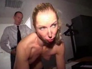 mature babe fucked by all staff into the bureau -