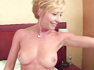 blond lewd older slut gang banged and chubby