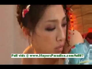 saori hara horny eastern wife into bed takes a