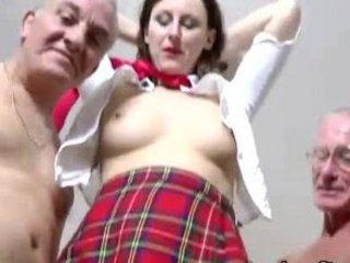 older euro girl inside nylons sucks and copulates