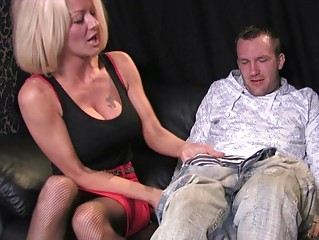busty blonde mature babe in crazy oral cfnm deed