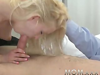 mom bleached milf takes a good fucking