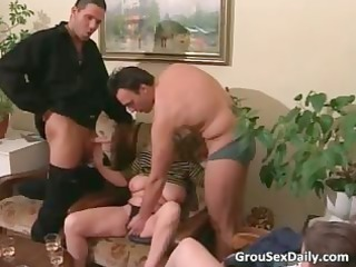 three older bitches gang gang bang some horny