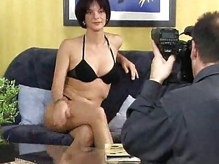 woman models for the camera