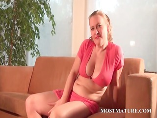 lusty mommy masturbating figure with a banana
