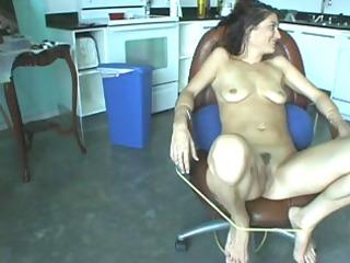 chick obtains a big sex toy