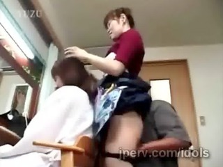 older japanese hairdresser acquires teased during