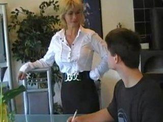 german mom teaches amateur boy
