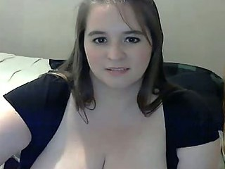 chubby woman with giant tits pushing plastic cock