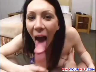 horny brunette mature babe lady is inside a sex