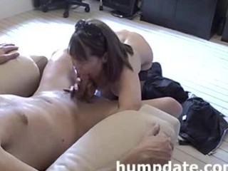 hot milf gives nice cock sucking and handjob