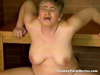 horny granny open-air pounding