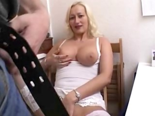 german babe fucks in the dining room