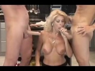 italian mature babe serves 2guys in the dining