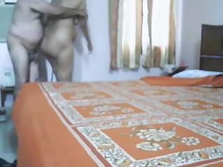 cougar indian pair making like inside bedroom