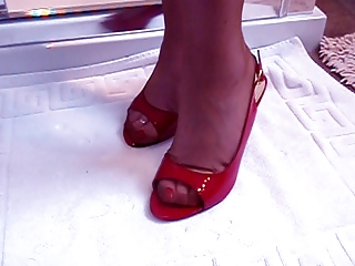 mature foot obsess model with hot legs