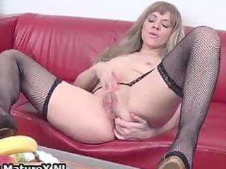 horny grownup in ebony nylons likes part5