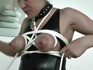 cougar extrem boobs bondage and nipple