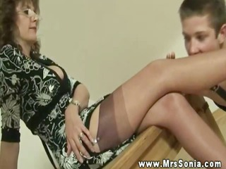 awesome horny mature makes fresh dude foot adore