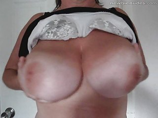 horny milf demonstrates off the twins