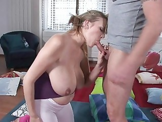lusty blonde woman angel gives breathtaking cock