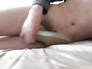 sperm inside wifes white classic pump