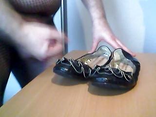 spunking on grannys summer boots
