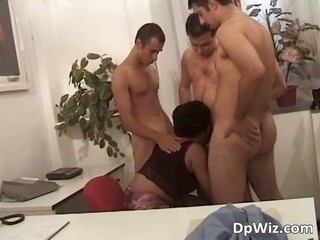 grownup slutty slut enjoys inside office