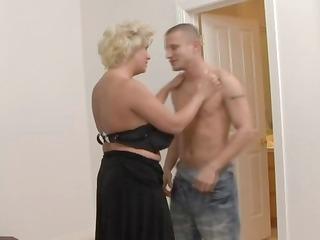 desperate blonde slut into pantyhose gangbangs