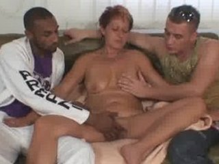 slutty elderly obtains two dicks at once