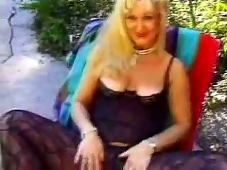 granny banged in the family backyard