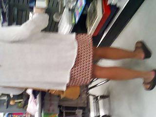 milf inside plaid cloth