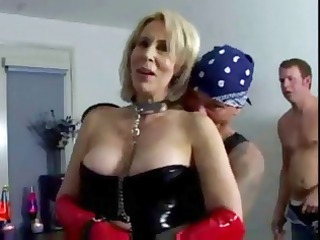 erica lauren is a short-haired blond mature babe