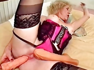 old plastic cock bangs her cave