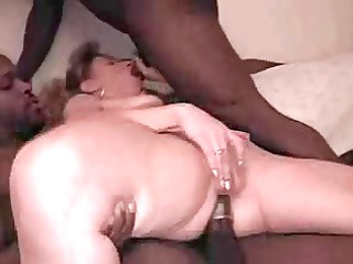woman double teamed when hubby films