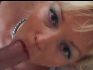 awesome mature babe oral piercing