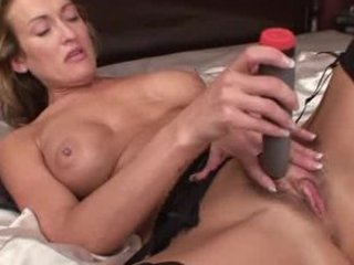 milf toys her hairy pussy