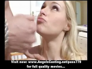 bleached fresh mature lady obtaining slit pierced