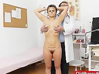 slender girl with a hairy gang bang slit