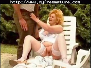 bleached old granny angel shaved and screwed