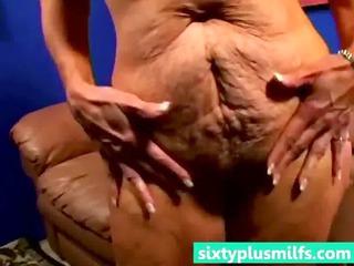 heavy blond older lady howing her sweet figure