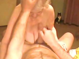 facial on a very granny granny. amateur