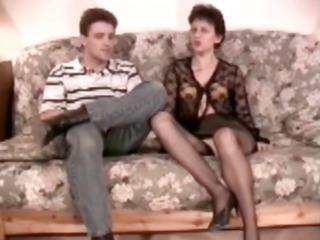 hairy grownup analfucked into pantyhose
