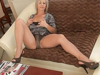 handsome albino momma into nylons does striptease