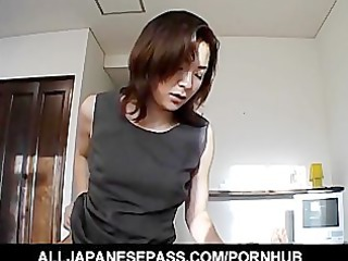japanese chick in an bureau suit sucks a large