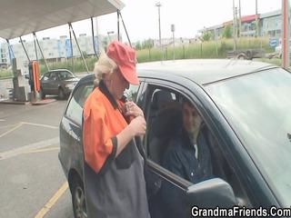granny slut acquires two penises al fresco