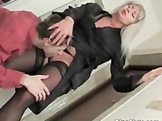 blonde woman dressed inside wonderful lingerie