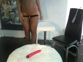 naughty wife in lingerie fucks vibrators