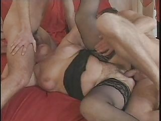 mature in glasses and stockings enjoys with 2